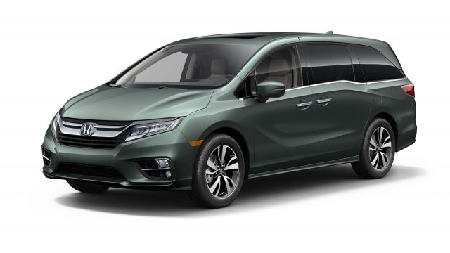 2018 Honda Odyssey - front, green