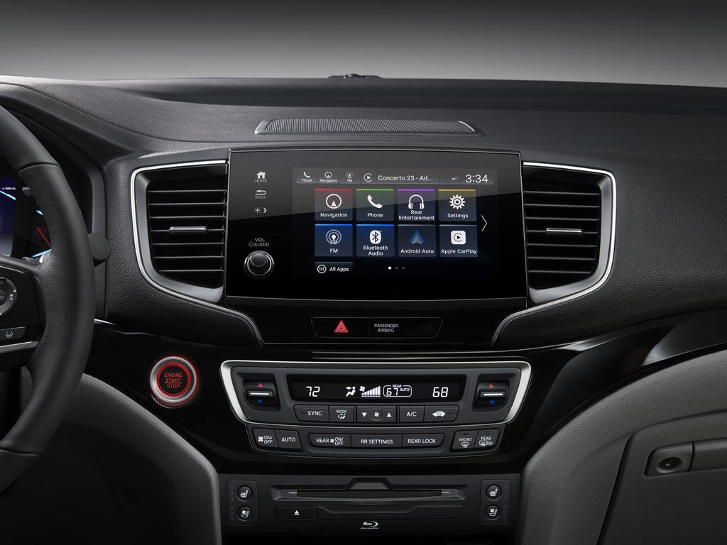 2019 Honda Pilot facelift - infotainment, HVAC