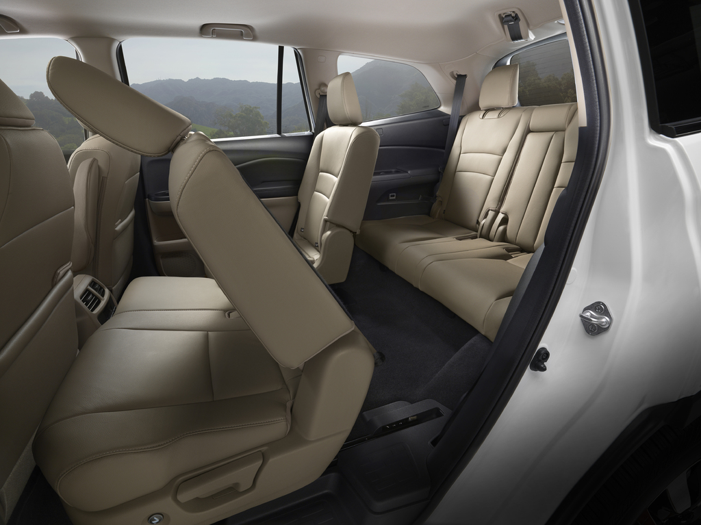 2019 Honda Pilot facelift - rear seat access