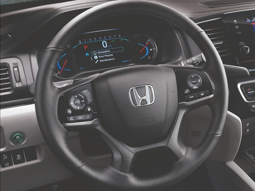 2019 Honda Pilot facelift - steering wheel, instruments