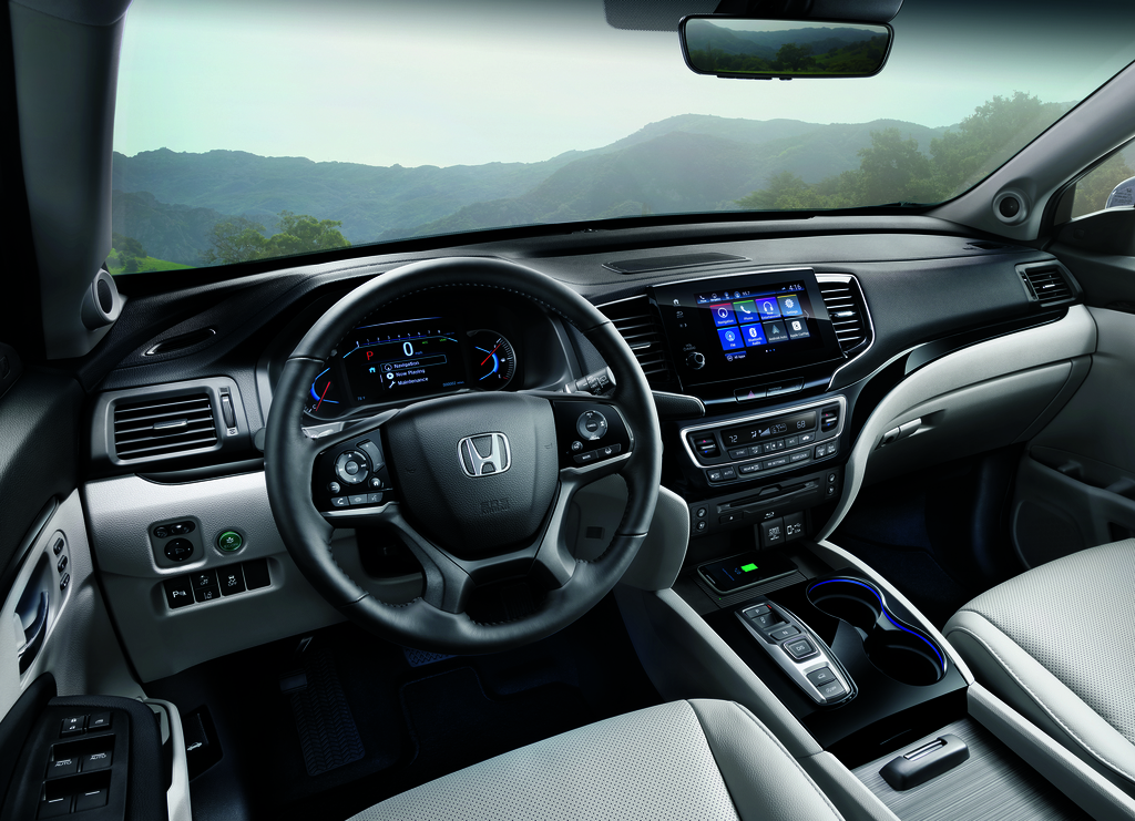 2019 Honda Pilot facelift - interior, dashboard