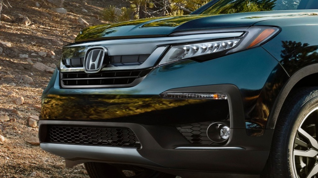 2019 Honda Pilot facelift - new LED headlamps, grille