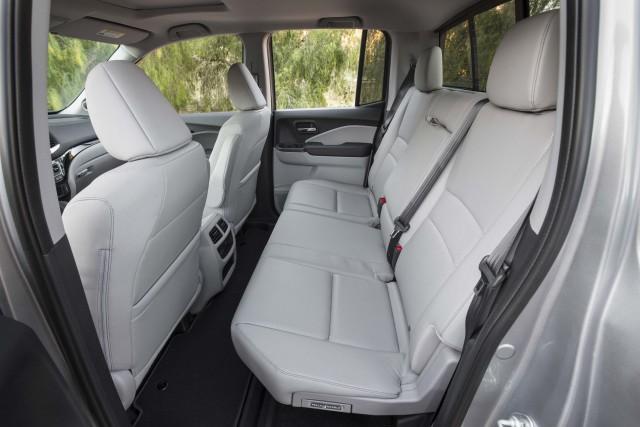 2017 Honda Ridgeline - rear seats