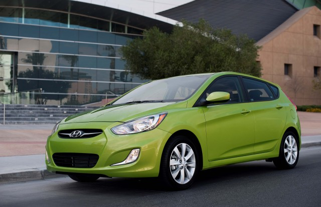 2012 Hyundai Accent - front, green