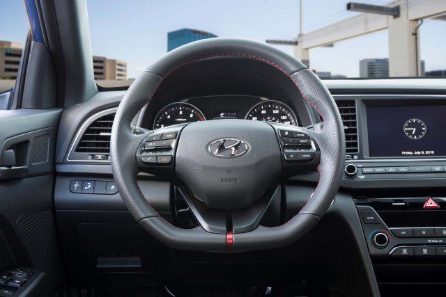 2017 Hyundai Elantra Sport - interior, dashboard, steering wheel