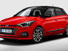 2018 Hyundai i20 facelift - front, red