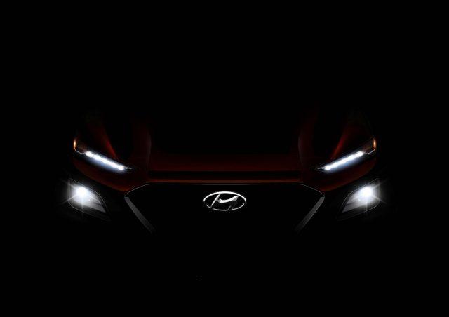 2017 Hyundai Kona teaser - headlamps