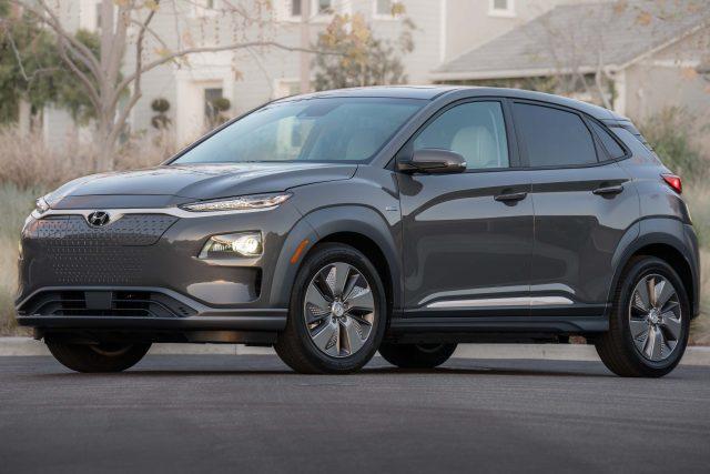 2019 Hyundai Kona EV - front, gray