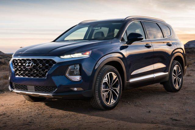 2019 Hyundai Santa Fe - front, blue