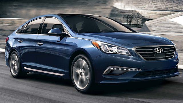 LF Hyundai Sonata - front, blue