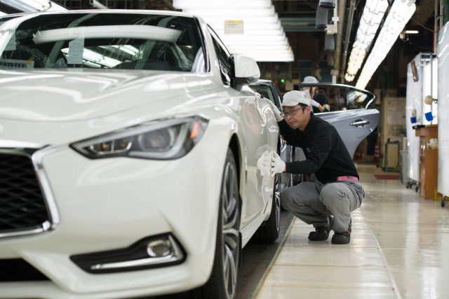 2017 Infiniti Q60 production line in Tochigi, Japan