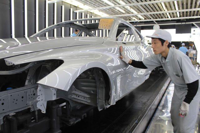 2017 Infiniti Q60 production line in Tochigi, Japan