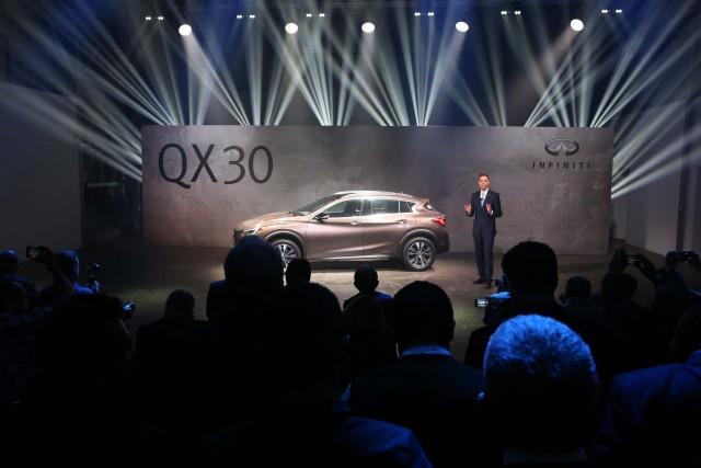 Infiniti QX30 - on stage at the 2015 LA Auto Show