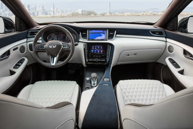 2019 Infiniti QX50 - interior, dashboard, white leather