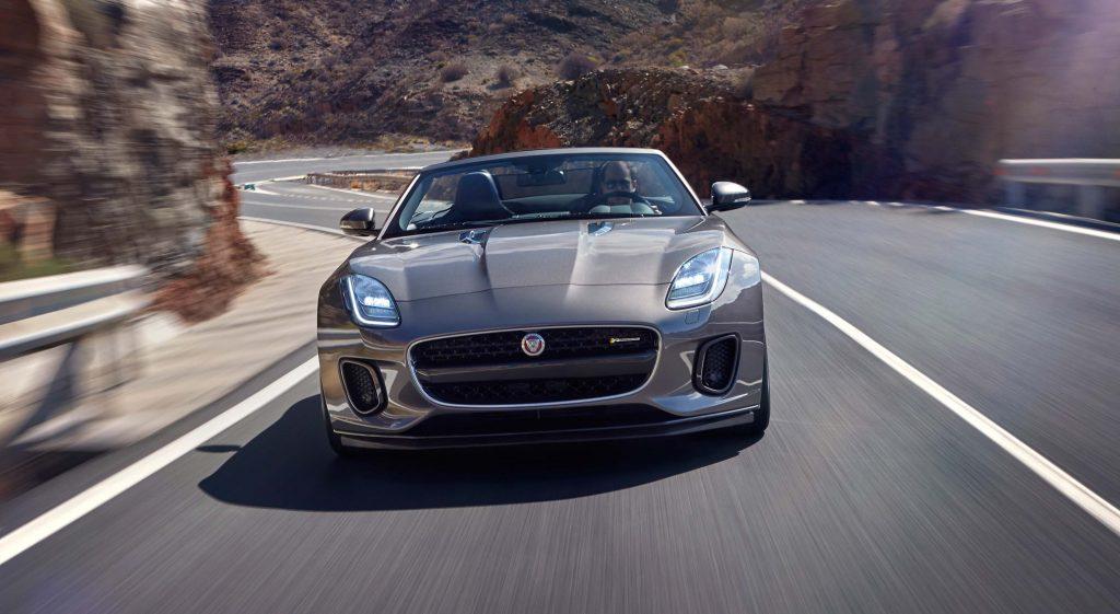2018 Jaguar F-Type R-Dynamic convertible - front, gray