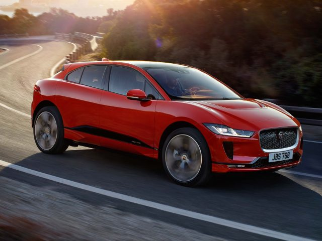 2018 Jaguar I-Pace - front, driving, red