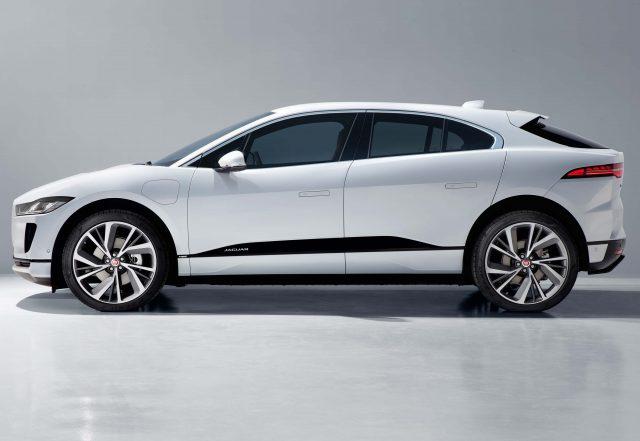 2018 Jaguar I-Pace - side, white
