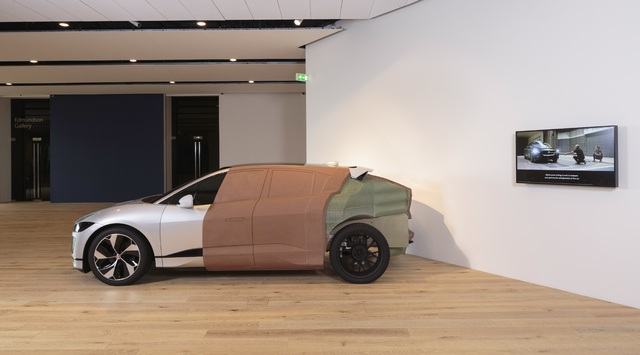 Jaguar I-Pace full size clay model at Scottish Design Galleries V&A Dundee