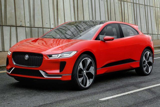 Jaguar I-Pace concept - front, red