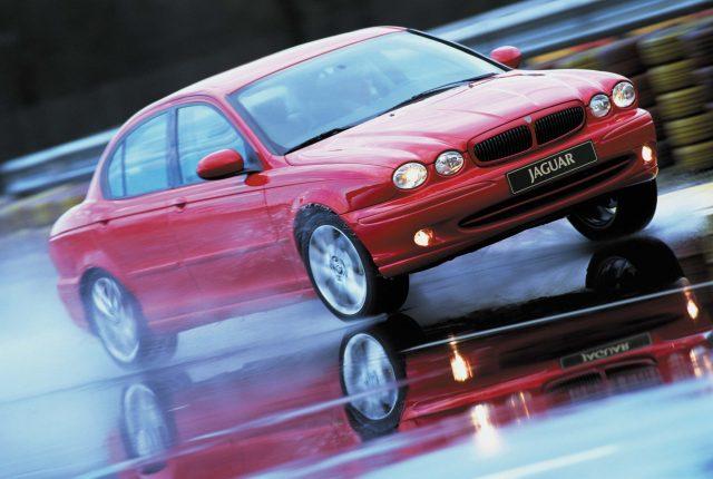 X400 Jaguar X-Type - front, red, skidpan