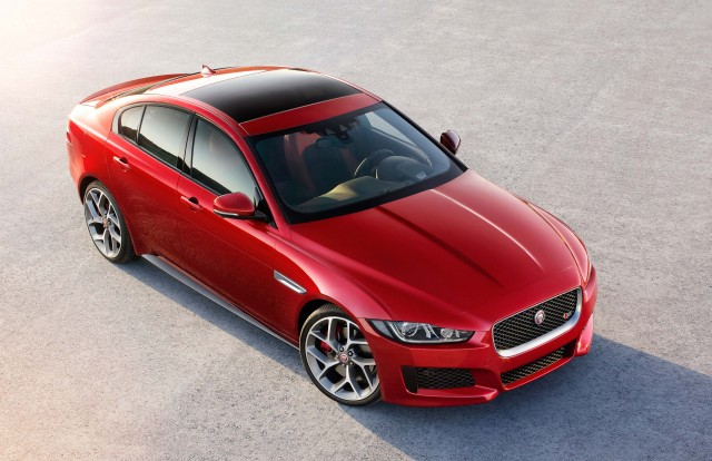 Jaguar XE S - front from high