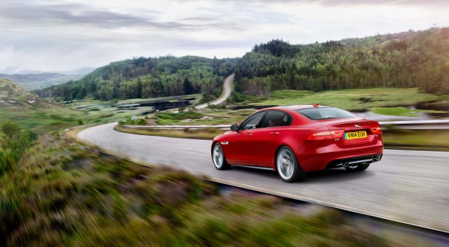 Jaguar XE S - on a B-road