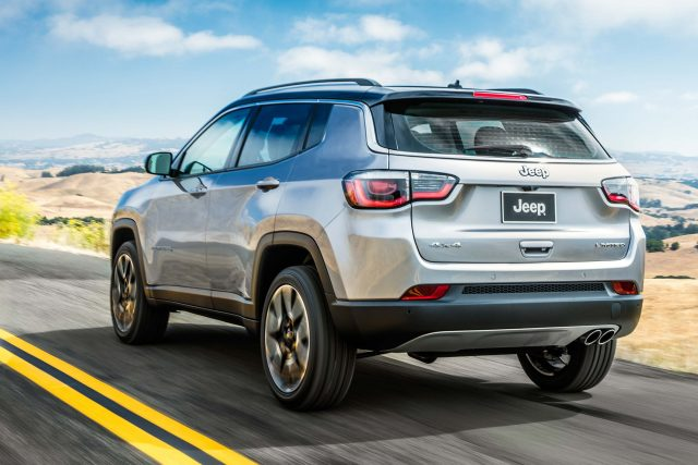 2018 Jeep Compass Limited - rear, silver, highway, driving