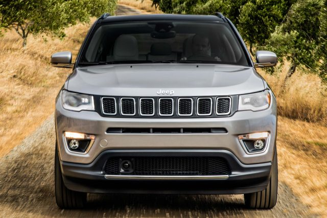 Jeep Compass Limited - front, silver