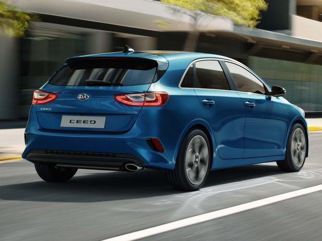 2018 Kia Ceed - rear, blue