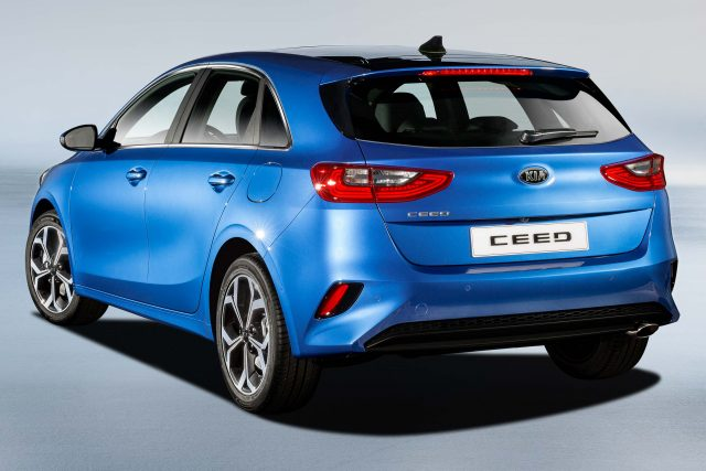 2018 Kia Ceed - rear, blue