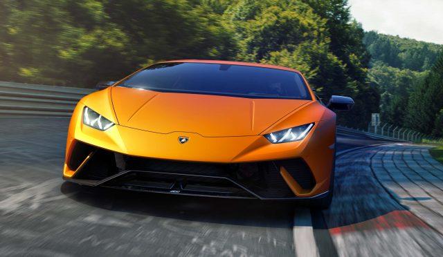 Lamborghini Huracan Performante - front, race track