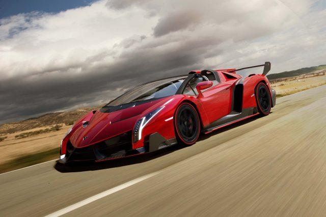 Lamborghini Veneno Roadster (red) - front