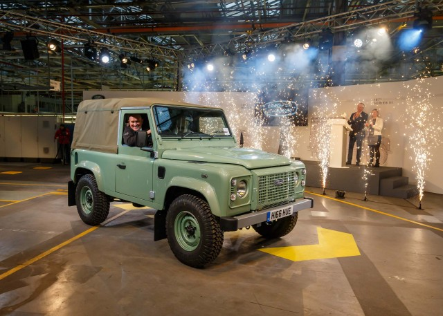 Last ever Land Rover Defender made - front