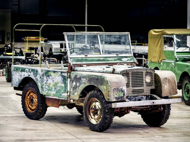 1948 Land Rover Mark I Prototype before restoration - front