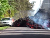 Lava from Mount Kilauea eats a Ford Mustang