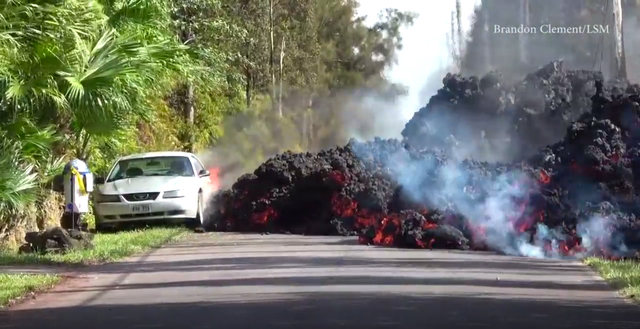 Lava From Mount Kilauea Volcano Eats Ford Mustang 2018