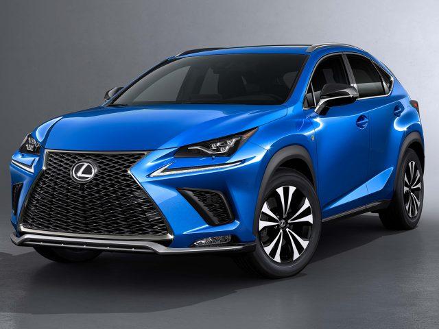 2018 Lexus NX F-Sport facelift - front, blue