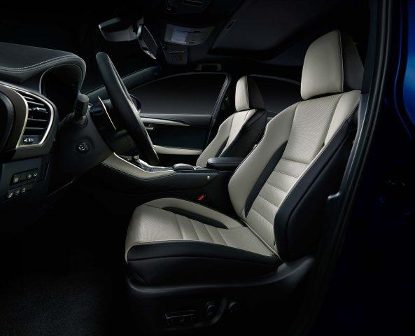 2018 Lexus NX facelift - front seats, white leather