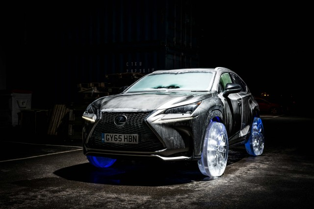 Lexus NX (AZ10) with ice wheels - front, profile