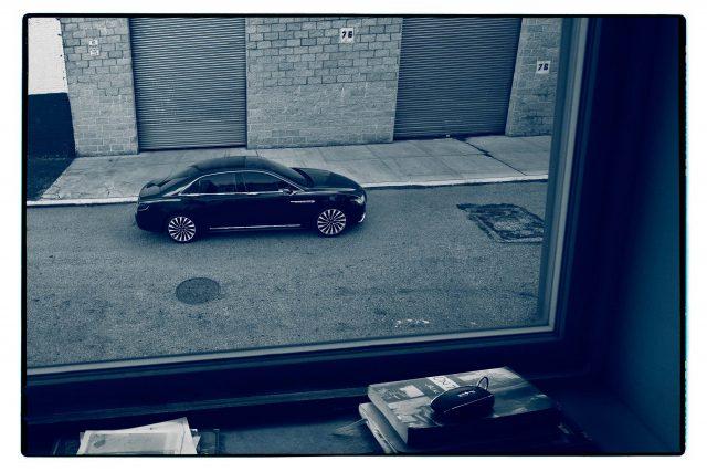 2017 Lincoln Continental Shot By Annie Leibovitz Side Through Apartment Window