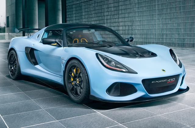 2018 Lotus Exige Sport 410 - front, light blue