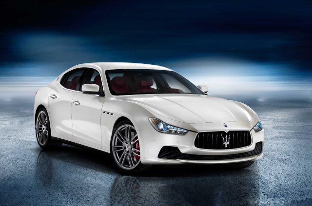 Maserati Ghibli - front, white