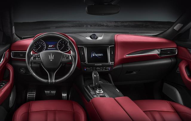 2019 Maserati Levante GTS - interior, red leather, dashboard