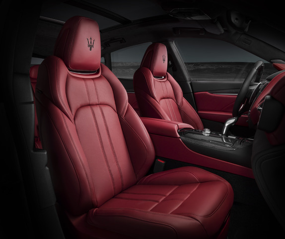2019 Maserati Levante GTS - interior, red leather, front seats