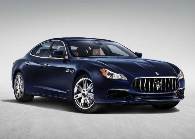 2016 M156 Maserati Quattroporte SQ4 facelift - front, dark blue