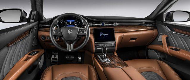 2016 M156 Maserati Quattroporte SQ4 facelift - interior, dashboard, brown leather