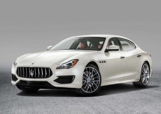 2016 M156 Maserati Quattroporte GTS facelift - front, white