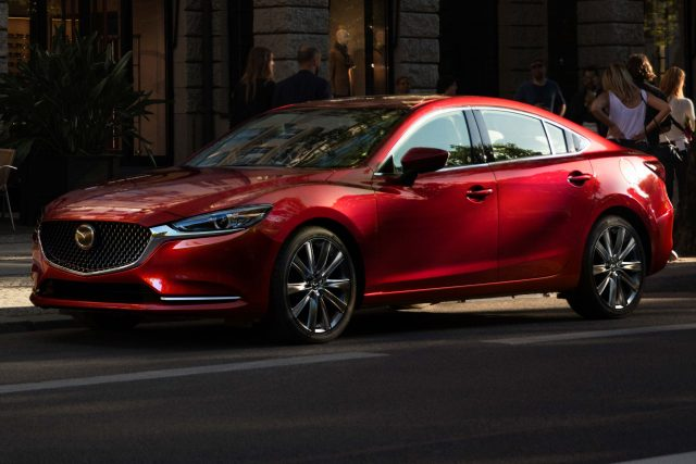 2018 Mazda 6 facelift - front, red