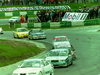 Mazda Xedos 6 leads a gaggle of cars at the BTCC races, Brands Hatch April 17 1994