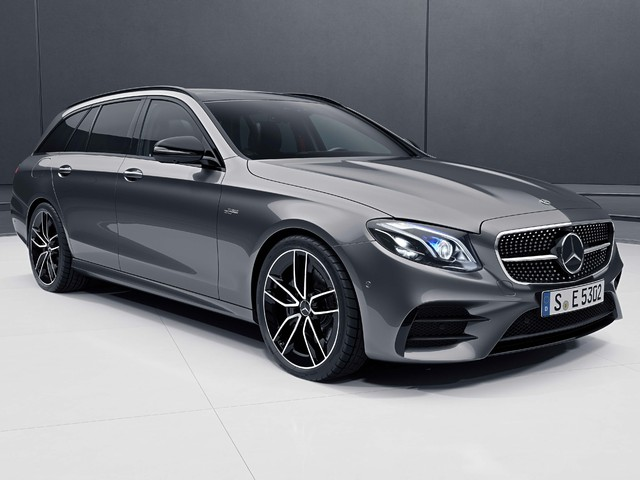 2018 Mercedes-AMG E53 4Matic+ wagon - front, gray
